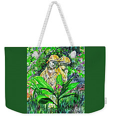 Sculpted Children And A Spring Bud Weekender Tote Bag