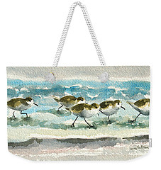 Scurrying Along The Shoreline 2  1-6-16 Weekender Tote Bag