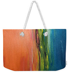 Sea And Sky Metallic Weekender Tote Bag