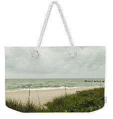 Sea Birds Awaiting The Rain Weekender Tote Bag by Christopher L Thomley