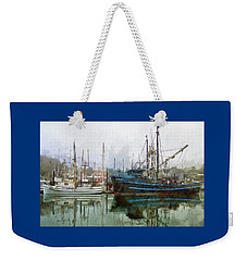 Weekender Tote Bag featuring the photograph Sea Breeze And Lady Law by Thom Zehrfeld