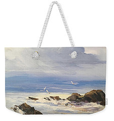 Sea Breeze Weekender Tote Bag by Helen Harris