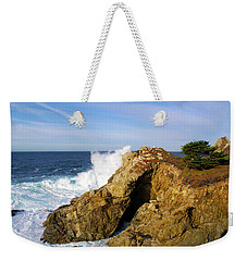 Weekender Tote Bag featuring the photograph Sea Cave Big Sur by Floyd Snyder