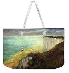Sea, Cliffs, Beach And Lighthouse Weekender Tote Bag