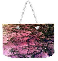 Sea Foam Pinkish Black Weekender Tote Bag