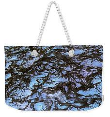 Sea Foam Black And Blue Weekender Tote Bag