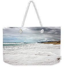 Weekender Tote Bag featuring the photograph Sea Foam And Clouds By Kaye Menner by Kaye Menner