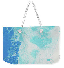 Weekender Tote Bag featuring the painting Sea Foam by Nikki Marie Smith