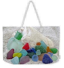 Sea Glass And Conch Weekender Tote Bag