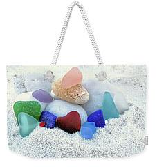 Sea Glass And White Beach Rocks  Weekender Tote Bag