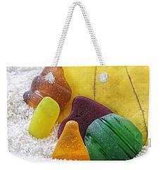 Sea Glass In Fall Colors Weekender Tote Bag