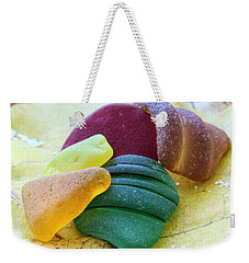 Sea Glass In Foliage Colors Weekender Tote Bag