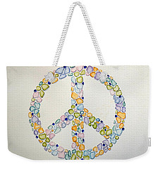 Sea Glass Peace Symbol Weekender Tote Bag