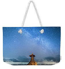 Weekender Tote Bag featuring the photograph Sea Goddess Statue, Bali by Pradeep Raja Prints