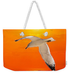 Weekender Tote Bag featuring the photograph Sea Gull by Athala Carole Bruckner