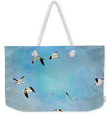 Weekender Tote Bag featuring the photograph Sea Gulls In Flight by Athala Carole Bruckner