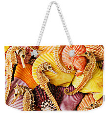 Sea Horses And Sea Shells Weekender Tote Bag by Garry Gay