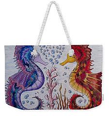 Sea Horses In Love Weekender Tote Bag by Megan Walsh