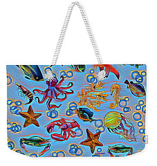 Sea Life Abstract Weekender Tote Bag by Gabriella Weninger - David