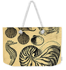 Weekender Tote Bag featuring the drawing Sea Life Vintage Illustrations by Edward Fielding