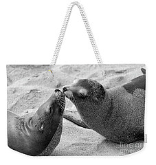 Weekender Tote Bag featuring the photograph Sea Lion Tenderness by John F Tsumas