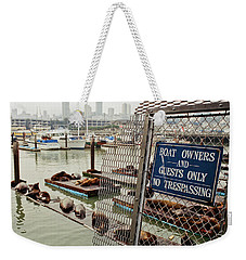 Sea Lions Take Over, San Francisco Weekender Tote Bag