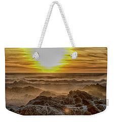 Sea Mist Sunset Weekender Tote Bag