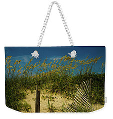 Sea Oats And Sand Fence Weekender Tote Bag by John Harding