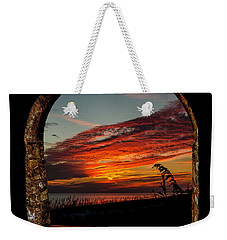 Sea Oats And Sunset Weekender Tote Bag