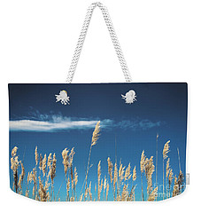 Weekender Tote Bag featuring the photograph Sea Oats On A Blue Day by Colleen Kammerer