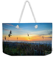 Sea Oats Sunrise Weekender Tote Bag by David Smith