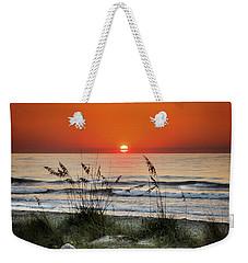 Sea Oats Sunrise Weekender Tote Bag