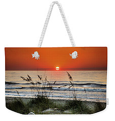 Weekender Tote Bag featuring the photograph Sea Oats Sunrise by Phil Mancuso
