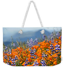 Sea Of California Wildflowers Weekender Tote Bag