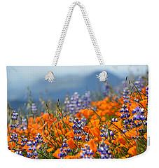 Sea Of California Wildflowers Weekender Tote Bag by Kyle Hanson