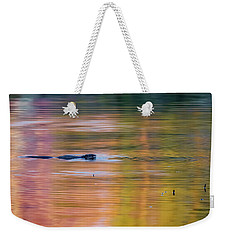 Weekender Tote Bag featuring the photograph Sea Of Color Square by Bill Wakeley