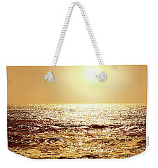 Weekender Tote Bag featuring the photograph Sea Of Diamonds by Michael Rock