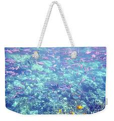 Sea Of Fish Weekender Tote Bag by Karen Nicholson