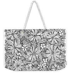 Sea Of Flowers And Seeds At Night Horizontal Weekender Tote Bag by Tamara Kulish