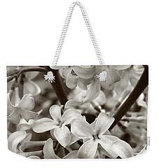 Sea Of Lilacs Sepia Weekender Tote Bag by Kathi Mirto