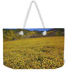 Weekender Tote Bag featuring the photograph Sea Of Yellow Up In The Temblor Range At Carrizo Plain National Monument by Jetson Nguyen