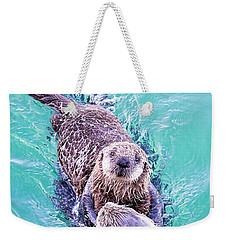 Sea Otter Pup Weekender Tote Bag