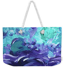 Sea Purple Weekender Tote Bag