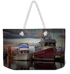 Weekender Tote Bag featuring the photograph Sea Rake by Randy Hall