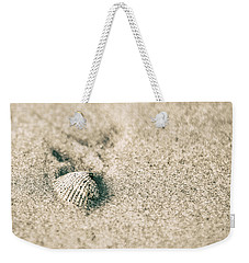 Weekender Tote Bag featuring the photograph Sea Shell On Beach  by John McGraw