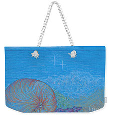 Weekender Tote Bag featuring the drawing Sea Shore by Kim Sy Ok