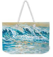 Weekender Tote Bag featuring the painting Sea Spray by Linda Olsen