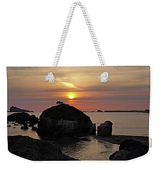 Sea Stack Sunset Weekender Tote Bag