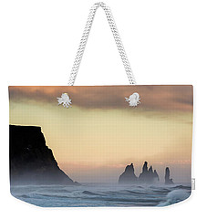 Weekender Tote Bag featuring the photograph Sea Stacks by Allen Biedrzycki