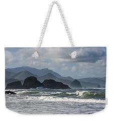 Sea Stacks And Surf Weekender Tote Bag